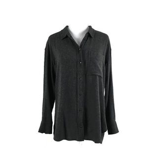 ATHLETA Button Down Shirt Wool/Viscose Blend